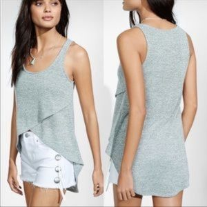 Express One Eleven Pink Crossover High Low Tank L